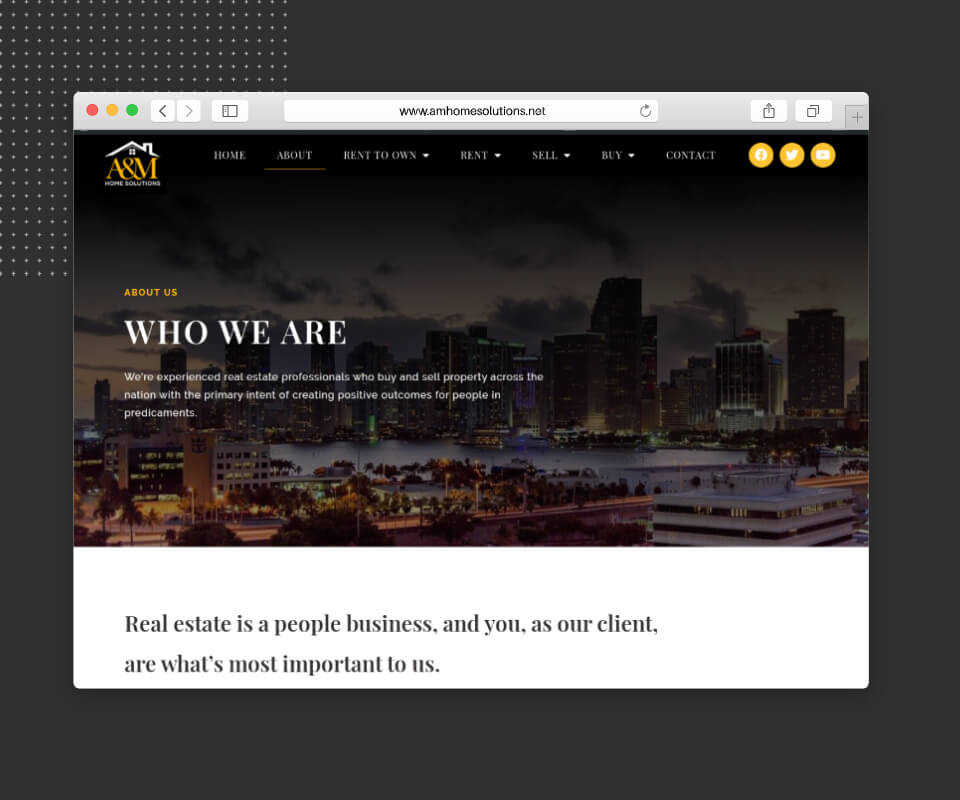 website design of real estate agent