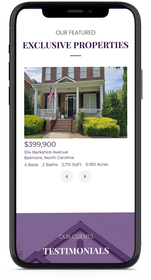 mobile responsive real estate web site design