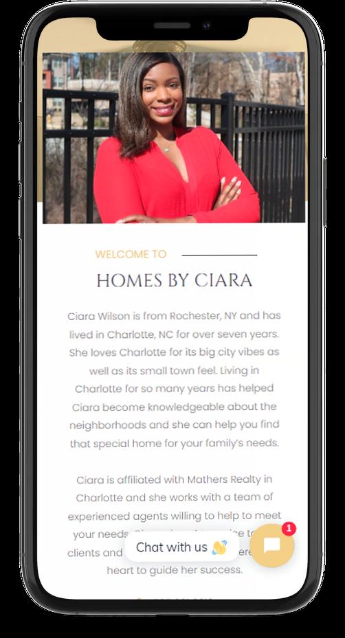 mobile responsive agent website design