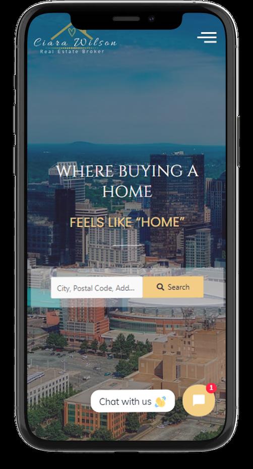 mobile responsive realty website design
