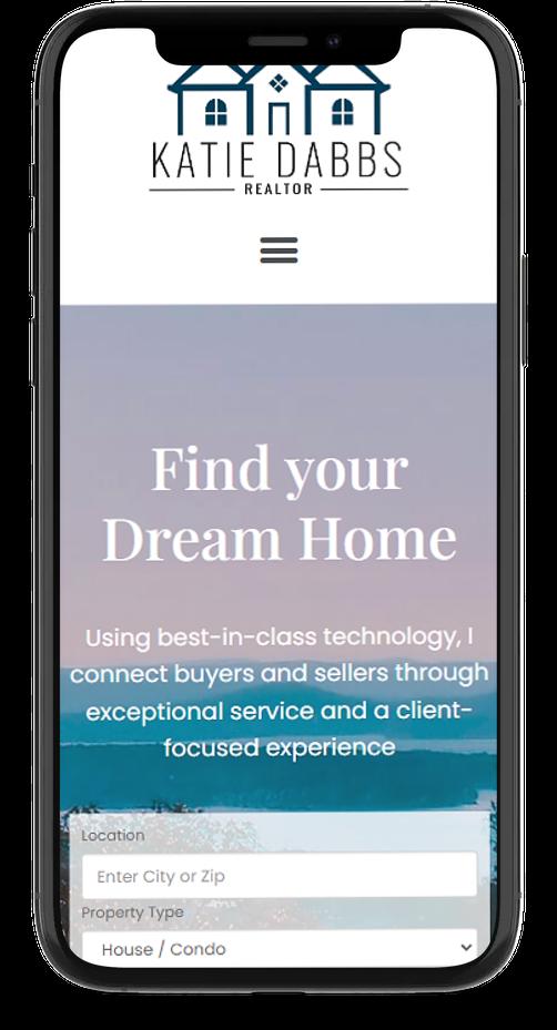 mobile responsive real estate agent website design