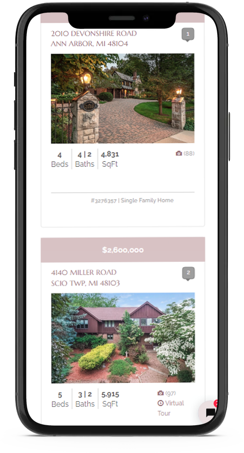 mobile responsive real estate web design